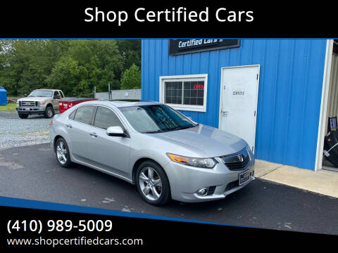 2012 Acura TSX for sale at Shop Certified Cars in Easton MD