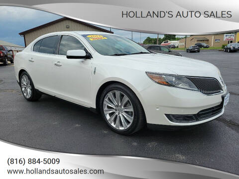 2013 Lincoln MKS for sale at Holland's Auto Sales in Harrisonville MO