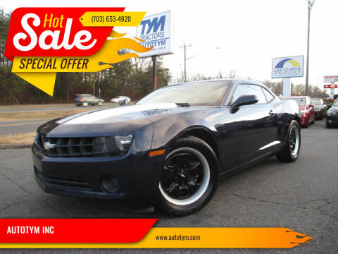 2012 Chevrolet Camaro for sale at AUTOTYM INC in Fredericksburg VA