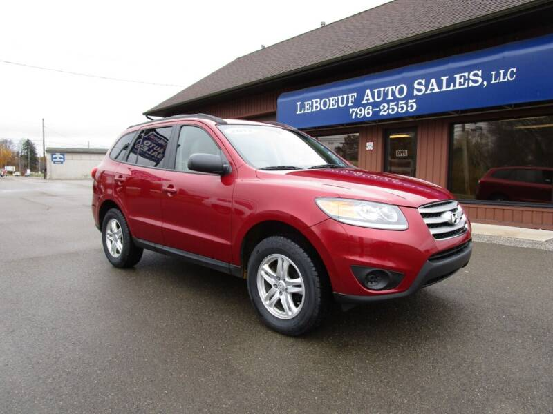 2012 Hyundai Santa Fe for sale at LeBoeuf Auto Sales in Waterford PA