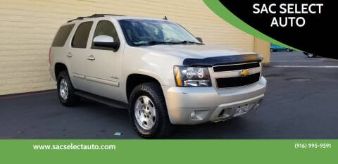 2011 Chevrolet Tahoe for sale at SAC SELECT AUTO in Sacramento CA