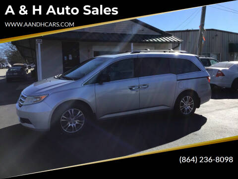 2011 Honda Odyssey for sale at A & H Auto Sales in Greenville SC