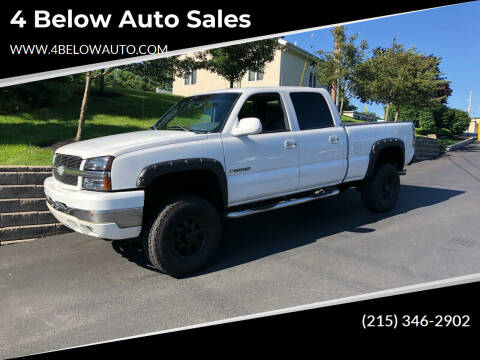 2004 Chevrolet Silverado 2500HD for sale at 4 Below Auto Sales in Willow Grove PA