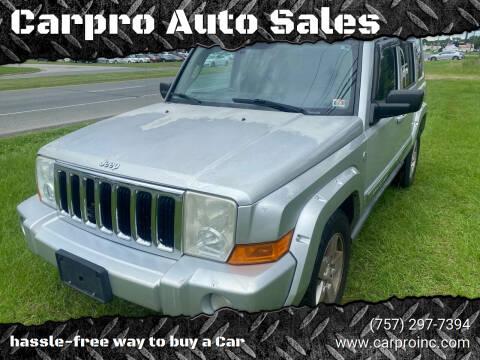 2006 Jeep Commander for sale at Carpro Auto Sales in Chesapeake VA
