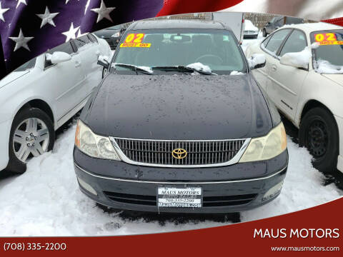 2002 Toyota Avalon for sale at MAUS MOTORS in Hazel Crest IL