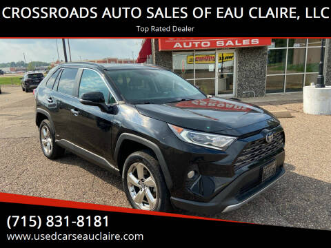 2019 Toyota RAV4 Hybrid for sale at CROSSROADS AUTO SALES OF EAU CLAIRE, LLC in Eau Claire WI