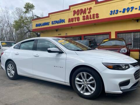 2016 Chevrolet Malibu for sale at Popas Auto Sales in Detroit MI
