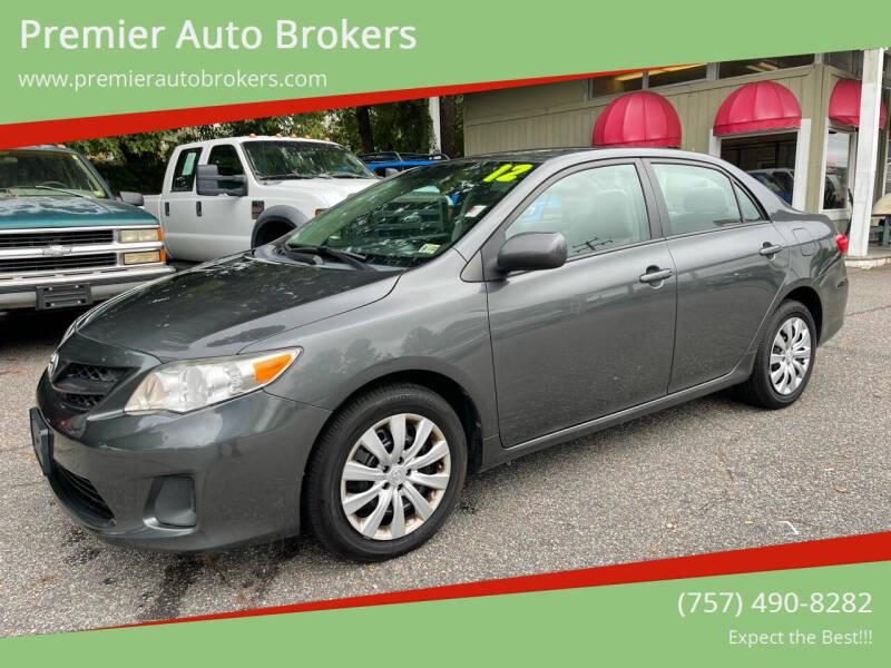 2012 Toyota Corolla for sale at Premier Auto Brokers in Virginia Beach VA