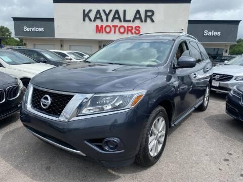 2013 Nissan Pathfinder for sale at KAYALAR MOTORS in Houston TX