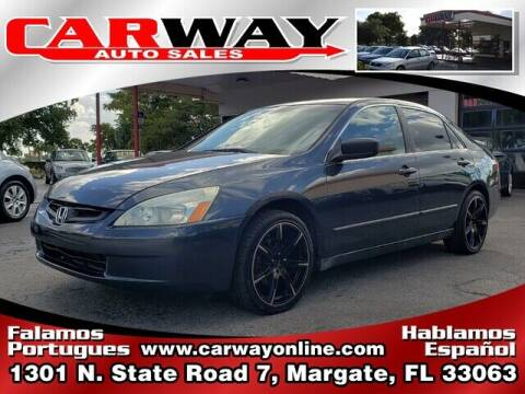 2004 Honda Accord for sale at CARWAY Auto Sales in Margate FL