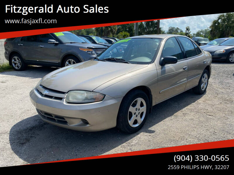 2003 Chevrolet Cavalier for sale at Fitzgerald Auto Sales in Jacksonville FL