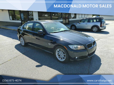 2010 BMW 3 Series for sale at MacDonald Motor Sales in High Point NC