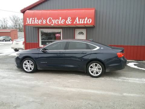 2015 Chevrolet Impala for sale at MIKE'S CYCLE & AUTO in Connersville IN