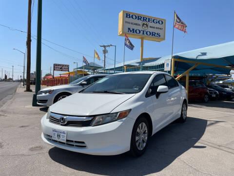 2012 Honda Civic for sale at Borrego Motors in El Paso TX