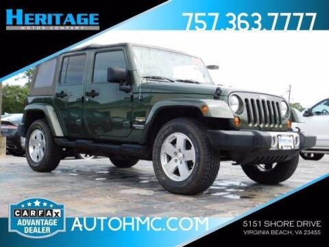 2008 Jeep Wrangler Unlimited for sale at Heritage Motor Company in Virginia Beach VA