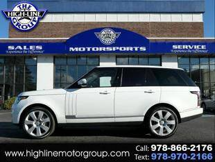 2016 Land Rover Range Rover for sale at Highline Group Motorsports in Lowell MA