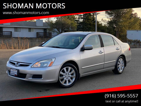 2006 Honda Accord for sale at SHOMAN AUTO GROUP in Davis CA