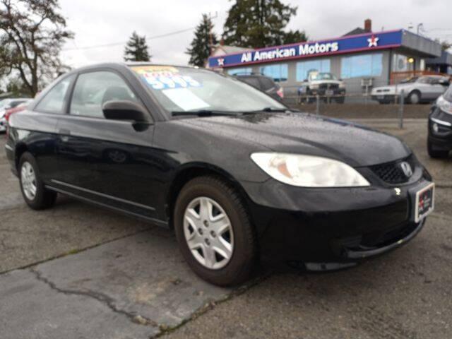 2005 Honda Civic for sale at All American Motors in Tacoma WA