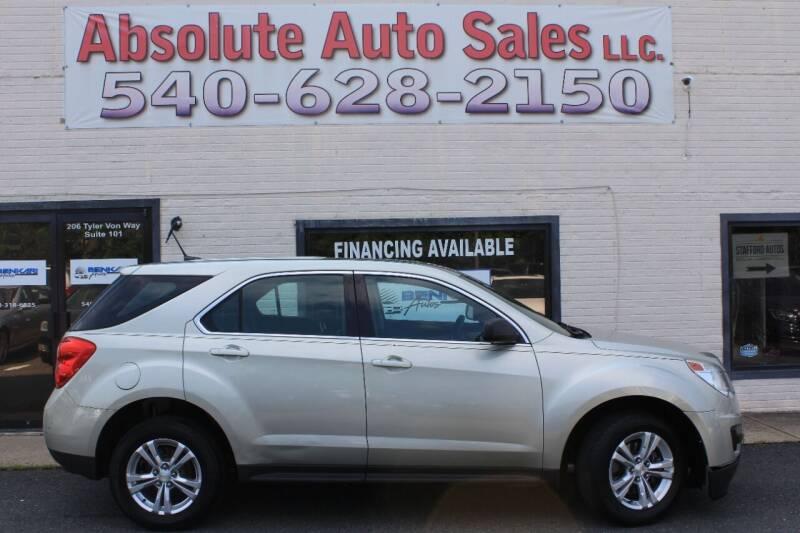 2013 Chevrolet Equinox for sale at Absolute Auto Sales in Fredericksburg VA