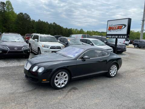 2005 Bentley Continental for sale at Billy Ballew Motorsports in Dawsonville GA
