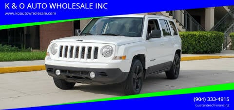 2014 Jeep Patriot for sale at K & O AUTO WHOLESALE INC in Jacksonville FL