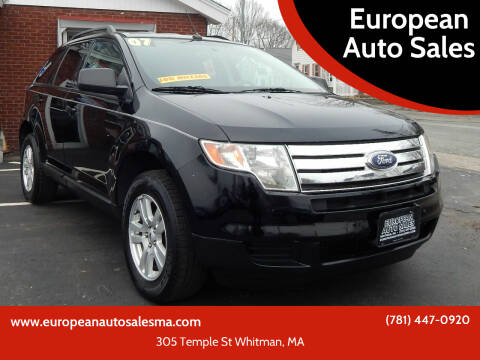 2007 Ford Edge for sale at European Auto Sales in Whitman MA