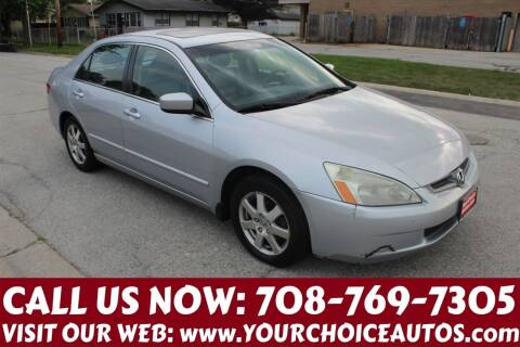 2005 Honda Accord for sale at Your Choice Autos in Posen IL