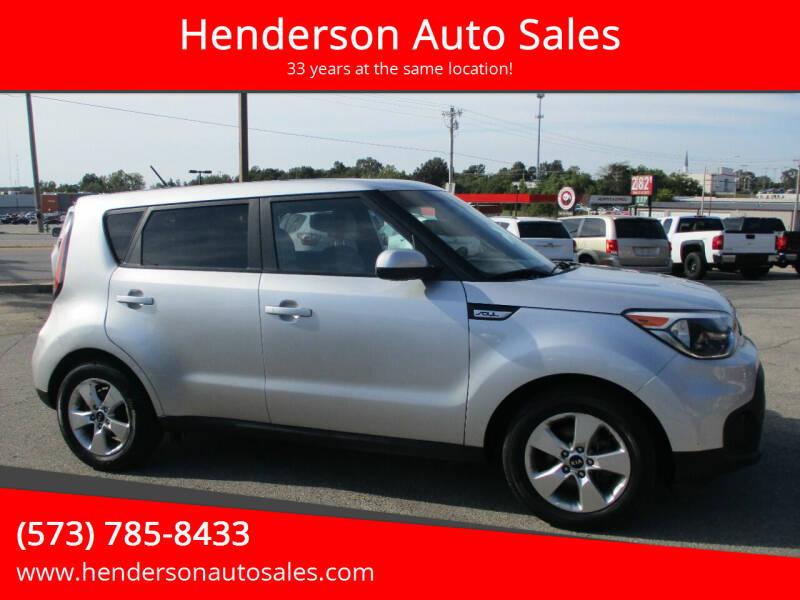 2017 Kia Soul for sale at Henderson Auto Sales in Poplar Bluff MO