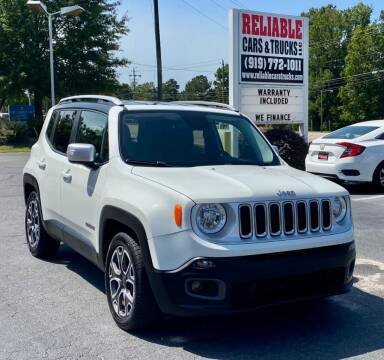 2016 Jeep Renegade for sale at Reliable Cars & Trucks LLC in Raleigh NC
