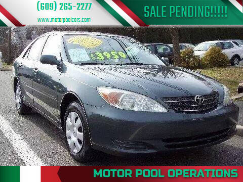 2004 Toyota Camry for sale at Motor Pool Operations in Hainesport NJ