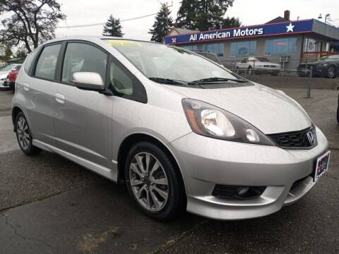 2013 Honda Fit for sale at All American Motors in Tacoma WA