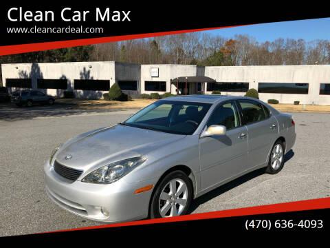 2005 Lexus ES 330 for sale at Clean Car Max in Alpharetta GA