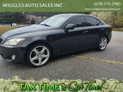 2007 Lexus IS 250 for sale at WIGGLES AUTO SALES INC in Mableton GA