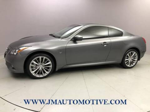 2014 Infiniti Q60 Coupe for sale at J & M Automotive in Naugatuck CT