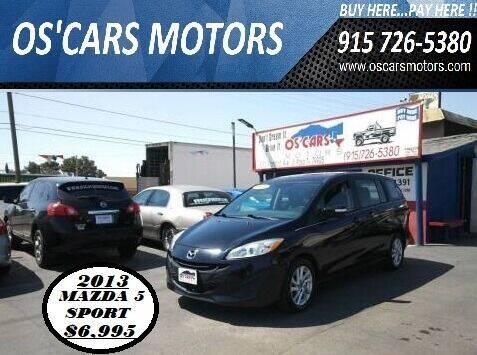 2013 Mazda MAZDA5 for sale at Os'Cars Motors in El Paso TX