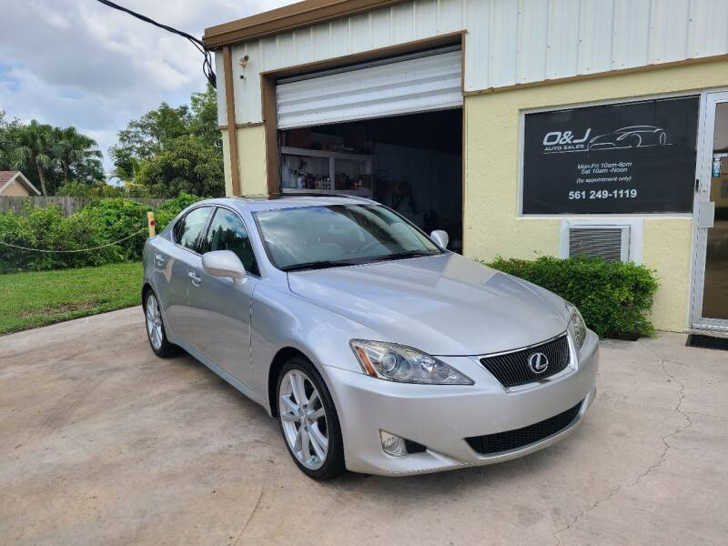 2006 Lexus IS 250 for sale at O & J Auto Sales in Royal Palm Beach FL