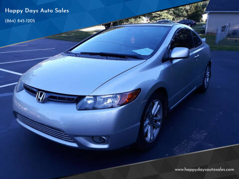 2008 Honda Civic for sale at Happy Days Auto Sales in Piedmont SC