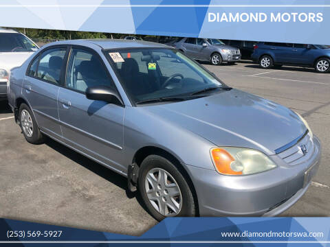 2003 Honda Civic for sale at Diamond Motors in Lakewood WA