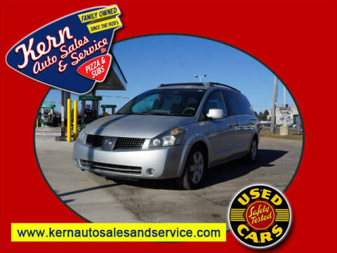2005 Nissan Quest for sale at Kern Auto Sales & Service LLC in Chelsea MI