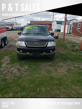 2004 Ford Explorer for sale at P & T SALES in Clear Lake IA