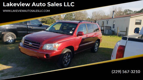 2006 Toyota Highlander for sale at Lakeview Auto Sales LLC in Sycamore GA