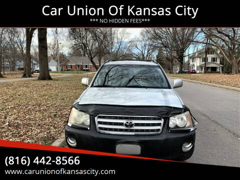 2003 Toyota Highlander for sale at Car Union Of Kansas City in Kansas City MO