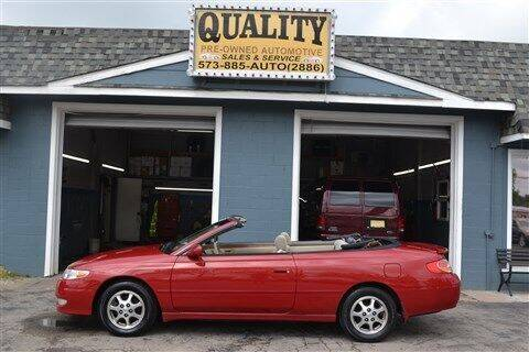 2002 Toyota Camry Solara for sale at Quality Pre-Owned Automotive in Cuba MO