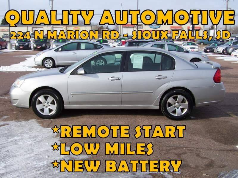 2006 Chevrolet Malibu for sale at Quality Automotive in Sioux Falls SD