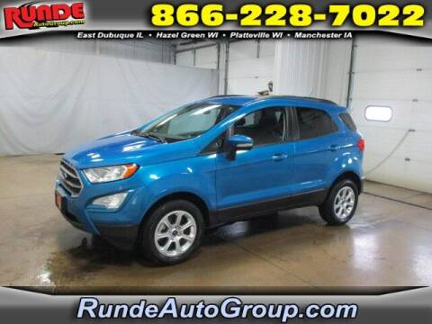 2019 Ford EcoSport for sale at Runde PreDriven in Hazel Green WI