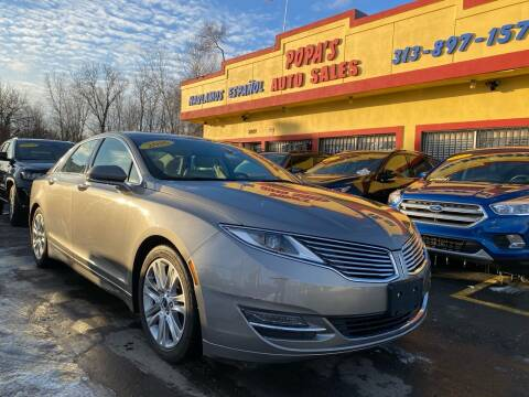 2016 Lincoln MKZ for sale at Popas Auto Sales in Detroit MI