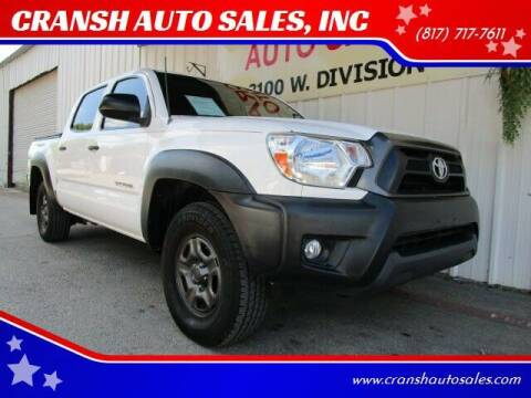 2012 Toyota Tacoma for sale at CRANSH AUTO SALES, INC in Arlington TX
