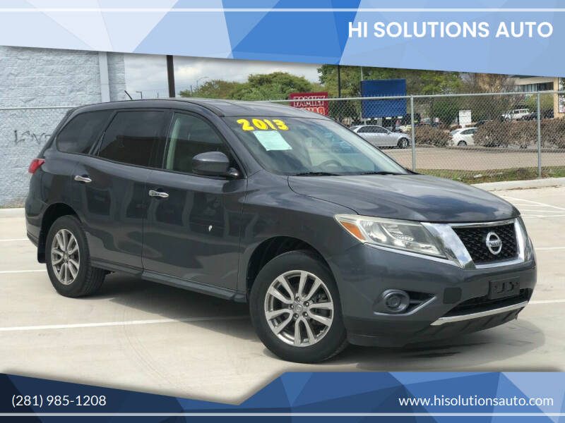 2013 Nissan Pathfinder for sale at HI SOLUTIONS AUTO in Houston TX