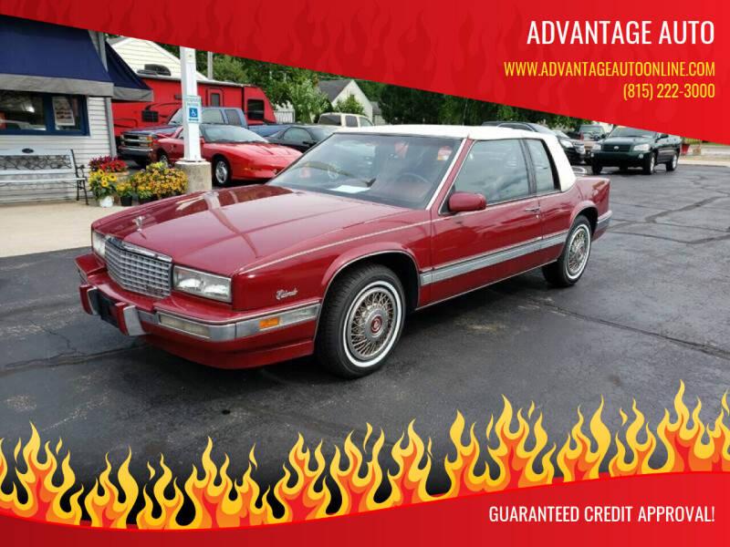 1989 Cadillac Eldorado for sale at Advantage Auto Sales & Imports Inc in Loves Park IL