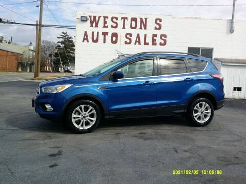 2017 Ford Escape for sale at Weston's Auto Sales, Inc in Crewe VA